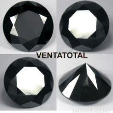 Coleccionismo de gemas: DIAMANTE NEGRO DE 11,11 KILATES - MEDIDA 1,2 X 0,7 CENTIMETROS Nº7. Lote 169762850