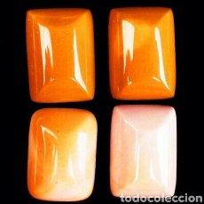 Coleccionismo de gemas: 4 MOAKITAS NATURALES DE 59,30 CT.. Lote 169934794