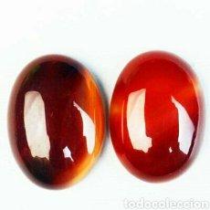 Coleccionismo de gemas: 2 ONYX ÁGATA NATURALES DE 47,80 CT.. Lote 169935804