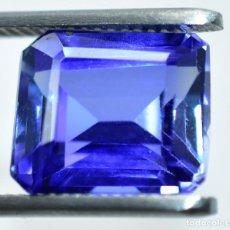Coleccionismo de gemas: ZAFIRO NATURAL AZUL 9.60.CT + CERTIFICADO GGL - 12.07 X 9.86 X 6.91.MM CORTE ESMERALDA. Lote 211503572