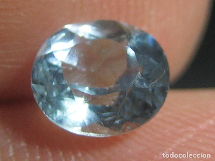 (074) MINERALES. AGUAMARINA, GEMA FACETADA, MADAGASCAR. (Coleccionismo - Mineralogía - Gemas)
