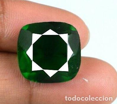Coleccionismo de gemas: Bonita Esmeralda Colombiana Talla de Cojín ( Mina de Muzo) de 11.70 Ct.Certificada con Origen. - Foto 2 - 171463902