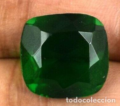 Coleccionismo de gemas: Bonita Esmeralda Colombiana Talla de Cojín ( Mina de Muzo) de 11.70 Ct.Certificada con Origen. - Foto 3 - 171463902