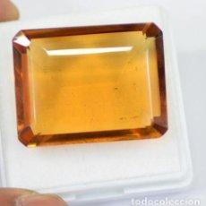 Coleccionismo de gemas: CITRINO NATURAL DE 76.30 QUILATES - CON CERTIFICADO EGL - MUY BUENA CALIDAD. Lote 171477625