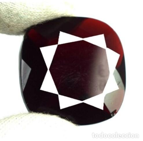 Coleccionismo de gemas: Gran Topacio Rojo de Brasil con Talla Cojín de 35.35 Ct. Certificado. - Foto 2 - 171629055