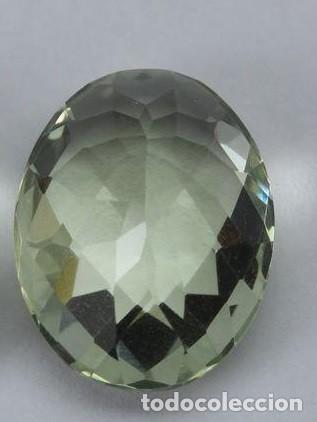 FABULOSA PRASIOLITE BRASILEÑA DE 7,85 CT. AG K 37 - APP (Coleccionismo - Mineralogía - Gemas)