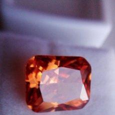 Coleccionismo de gemas: PERFECTO CIRCÓN NEÓN. NATURAL DE CAMBOYA. COLOR CHAMPÁN.TALLA ESMERALDA CON 9.70 CT.. Lote 184759661