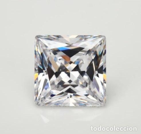 ESPECTACULAR ZAFIRO CHATHAM STAR BLANCO DE 6.65 CT (10 X 10 MM.) (Coleccionismo - Mineralogía - Gemas)