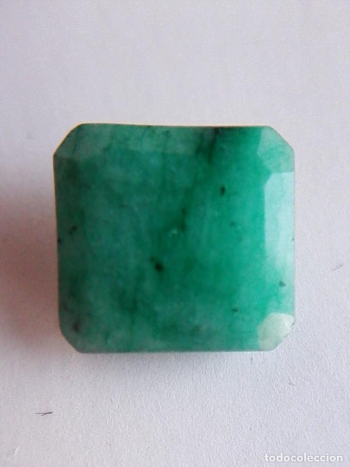 COQUETA ESMERALDA NATURAL TALLA CUADRADA. SIN TRATAMIENTO. DE COLOMBIA CON 5.0 CT. (Coleccionismo - Mineralogía - Gemas)