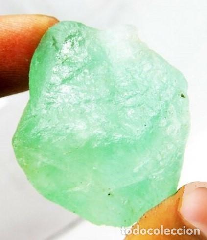 Coleccionismo de gemas: Inigualable Fluorita Calidad Gema en Bruto Verde Mar Claro. De Brasil con 176.50 - Foto 3 - 173396343