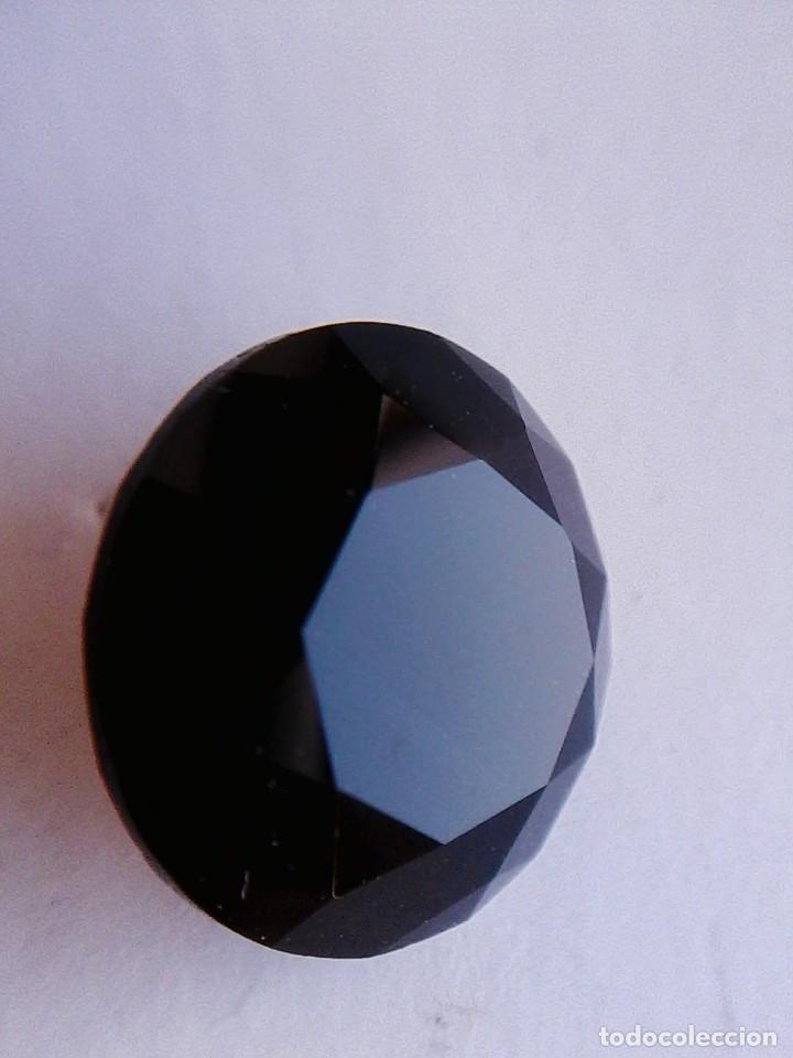 ESPECTACULAR Y RARO CIRCÓN NATURAL NEGRO.TALLA REDONDA CON 7.5 CT. 14 MM. Ø (Coleccionismo - Mineralogía - Gemas)