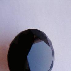 Coleccionismo de gemas: ESPECTACULAR CIRCÓN NATURAL NEGRO.TALLA REDONDA CON 7.5 CT. 14 MM. Ø. Lote 173488514