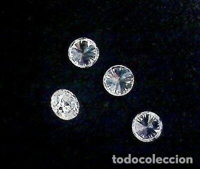 DIAMANTE AUTÉNTICO Y NATURAL.LOTE DE 4.1 MILÍM.GSV1 COLOR TRANSPARENTE Y BRILLANTE.PARA ENGARZAR! (Coleccionismo - Mineralogía - Gemas)