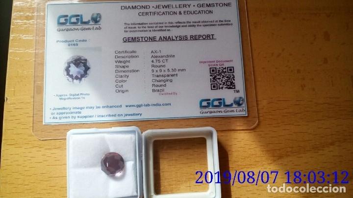 Coleccionismo de gemas: ALEJANDRITA SINTÉTICA TALLA REDONDA 4.75 Cts. - Foto 5 - 173852525