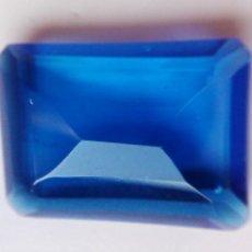 Coleccionismo de gemas: PRECIOSO TOPACIO TIPO LONDRES AZUL INTENSO TALLA ESMERALDA DE 17.5 CT.. Lote 184389250