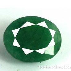 Coleccionismo de gemas: ESMERALDA NATURAL, DE MUZO COLOMBIA, DE TALLA OVAL, DE 5.20 CT. CERTIFICADA CON ORIGEN.. Lote 173946529