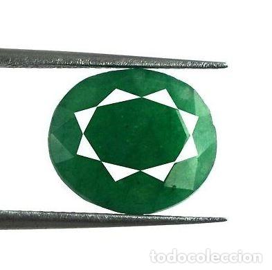 Coleccionismo de gemas: Esmeralda Natural, de Muzo Colombia, de Talla Oval, de 5.20 Ct. Certificada con Origen. - Foto 2 - 173946529