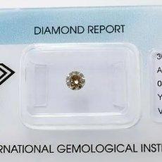 Coleccionismo de gemas: PRECIOSO DIAMANTE NATURAL 0,39CT CERTIFICADO IGI Y SELLADO VS 2. Lote 175948067