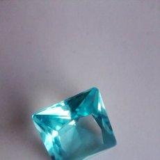Coleccionismo de gemas: PRECIOSO CIRCÓN LIGHT NATURAL AZUL CELESTE TALLA CUADRADA DE 2.45 CT (8X8 MM). Lote 176016359