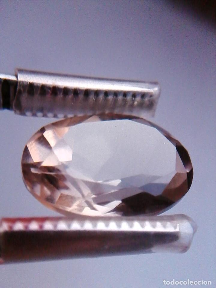 BONITA TALLA DE CUARZO NATURAL OVAL AHUMADO PROCEDENTE DE SUDÁFRICA CON 13.70 CT. (Coleccionismo - Mineralogía - Gemas)