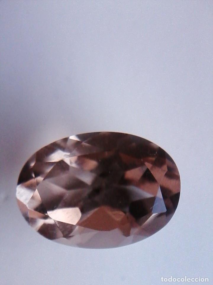 Coleccionismo de gemas: Bonita Talla de Cuarzo Natural Oval Ahumado Procedente de Sudáfrica con 13.70 Ct. - Foto 5 - 176299058