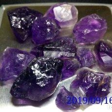 Coleccionismo de gemas: LOTE DE 12 PIEDRAS DE AMATISTAS EN BRUTO - 35 GR.. Lote 176560949