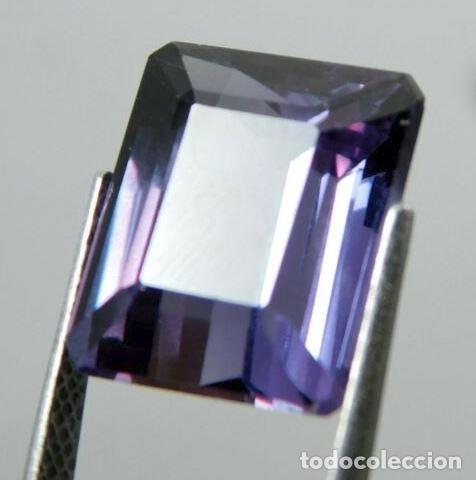 MAGNÍFICA TAAFEITA NATURAL. VIOLETA. TALLA ESMERALDA. DE SRI LANKA (CEYLAN) CON 10.55 CT. (Coleccionismo - Mineralogía - Gemas)
