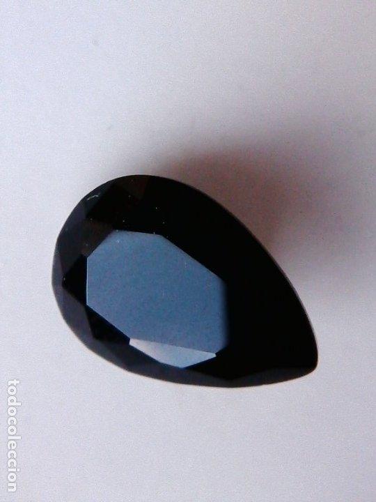 Coleccionismo de gemas: Precioso Circón Natural Sin Tratar Negro de Camboya con Talla de Pera y 3.5 Ct - Foto 2 - 189415736