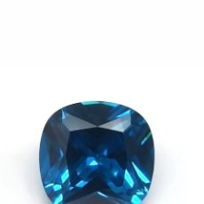 Coleccionismo de gemas: ZAFIRO MAR AZUL CREADO POR SISTEMA CHATHAM DE 10X10 CT.. Lote 178046714