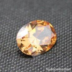 Coleccionismo de gemas: LUMINOSO ZAFIRO CHATHAM OVAL COLOR CHAMPAÑA DE 4.55 CT. Lote 178046804
