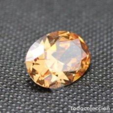 Coleccionismo de gemas: BONITO ZAFIRO CHATHAM COLOR CHAMPAÑA Y TALLA OVAL DE 4.55 CT.. Lote 178126707