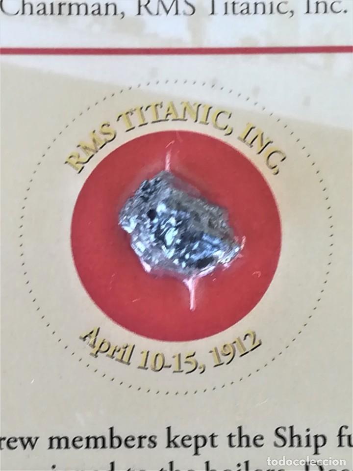 Coleccionismo de gemas: TITANIC,TROZO DE CARBON DE LAS BODEGAS DEL BUQUE HUNDIDO EN 1912,ORIGINAL CON CERTIFICADO.AÑO 1994 - Foto 2 - 178221148