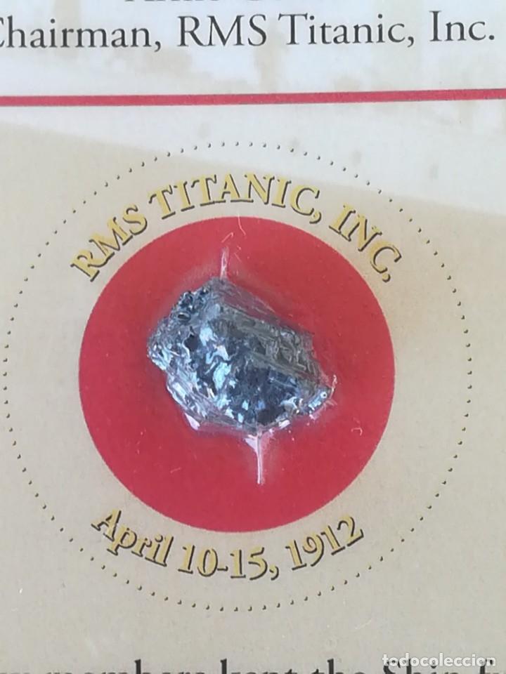 Coleccionismo de gemas: TITANIC,TROZO DE CARBON DE LAS BODEGAS DEL BUQUE HUNDIDO EN 1912,ORIGINAL CON CERTIFICADO.AÑO 1994 - Foto 5 - 178221148