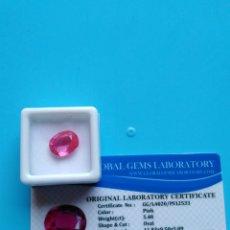 Coleccionismo de gemas: ZAFIRO NATURAL COLOR ROSA DE 5,40CT.. Lote 178265373