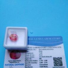 Coleccionismo de gemas: ZAFIRO NATURAL COLOR ROSA DE 7,60CT.. Lote 178287230
