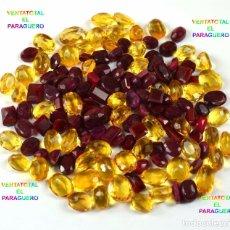 Coleccionismo de gemas: LOTE DE 106 GEMAS RUBIS Y CITRINOS 1050 KILATES CADA PIEDRA MIDE 1,50 A 2 CENTIMETROS APROXIMADAMENT. Lote 178388817