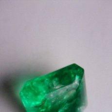 Coleccionismo de gemas: ESMERALDA TIPO DENDRÍTICA, MINERAL ,TALLA CUADRADA CON 9.35 CT.. Lote 178642005