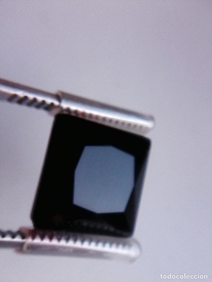 Coleccionismo de gemas: Bonito Circón Negro Natural de Camboya Talla Cuadrada con 6.50 Ct - Foto 2 - 178657573