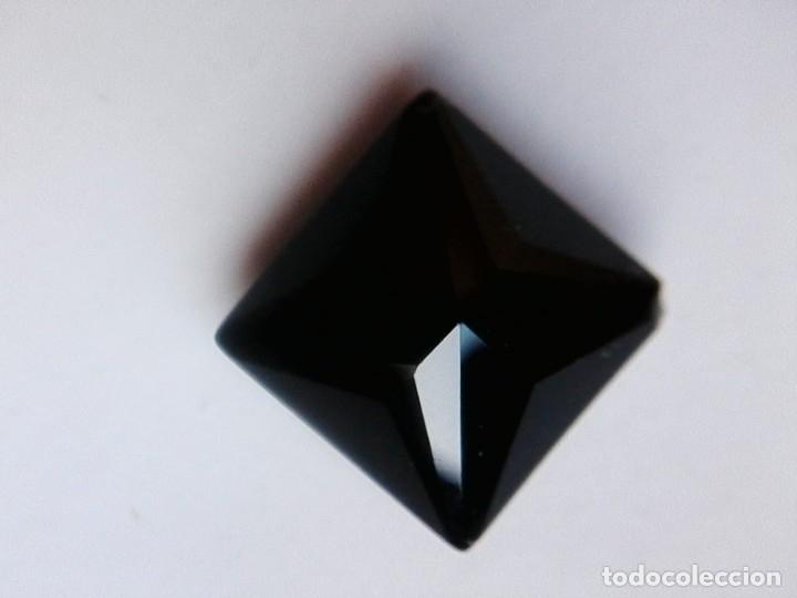 Coleccionismo de gemas: Bonito Circón Negro Natural de Camboya Talla Cuadrada con 6.50 Ct - Foto 3 - 178657573