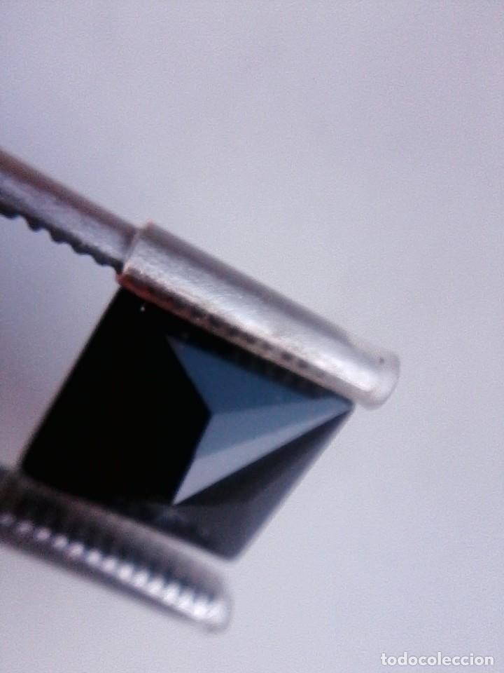 Coleccionismo de gemas: Bonito Circón Negro Natural de Camboya Talla Cuadrada con 6.50 Ct - Foto 4 - 178657573