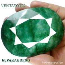 Coleccionismo de gemas: GIGANTE ESMERALDA DE 740 KILATES CON CERTIFICADO KGCL - MEDIDA 7,6 X 5,7 CENTIMETROS - Nº6. Lote 178915632