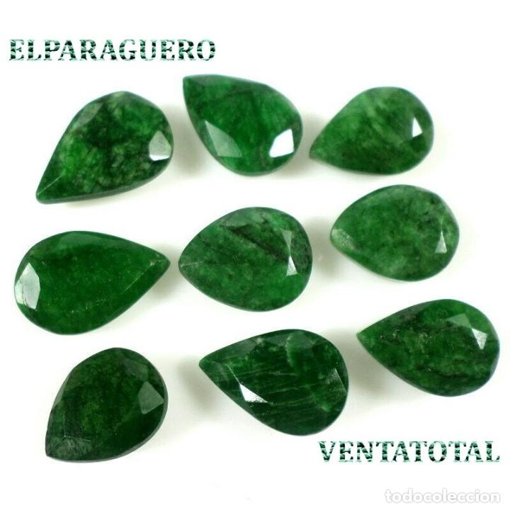 LOTE DE ESMERALDAS TOTAL 113,60 KILATES + CERTIFICADO KGCL-MEDIDA APROXIMAD DE UNA 2 CENTIMETROS-N1 (Coleccionismo - Mineralogía - Gemas)
