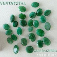 Coleccionismo de gemas: LOTE DE ESMERALDAS TOTAL 123,30 KILATES CON CERTIFICADO KGCL-MEDIDA APROXIMADA DE UNA 1,50 CENTI -N2. Lote 178915793