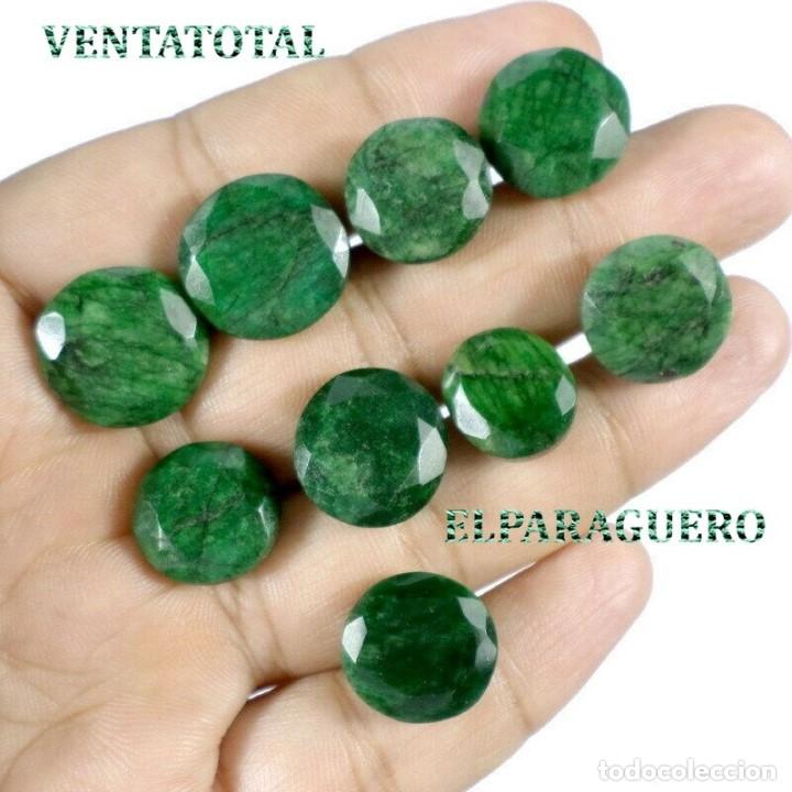 LOTE DE ESMERALDAS TOTAL 107,90 KILATES CON CERTIFICADO KGCL-MEDIDA APROXIMADA DE UNA 1,50 CENTI-Nº3 (Coleccionismo - Mineralogía - Gemas)
