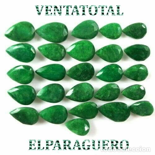 LOTE DE ESMERALDAS TOTAL 285,80 KILATES CON CERTIFICADO KGCL-MEDIDA APROXIMADA DE UNA 2 CENTI -Nº4 (Coleccionismo - Mineralogía - Gemas)