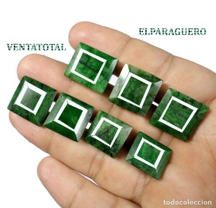 LOTE DE ESMERALDAS TOTAL 125,10 KILATES CON CERTIFICADO KGCL-MEDIDA APROXIMADA DE UNA 2 CENTI -Nº6 (Coleccionismo - Mineralogía - Gemas)