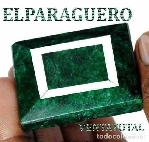 ESMERALDA DE COLOMBIA DE 280 KILATES - MEDIDA 4,2 X 3,5 CENTIMETROS APROXIMADAMENTE -Nº32 (Coleccionismo - Mineralogía - Gemas)
