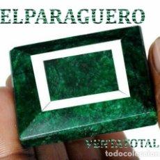 Coleccionismo de gemas: ESMERALDA DE COLOMBIA DE 280 KILATES - MEDIDA 4,2 X 3,5 CENTIMETROS APROXIMADAMENTE -Nº32. Lote 178915888