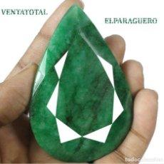 Coleccionismo de gemas: ESMERALDA DE COLOMBIA DE 670 KILATES - MEDIDA 7,5 X 5,0 CENTIMETROS APROXIMADAMENTE -Nº33. Lote 178915911