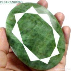 Coleccionismo de gemas: ESMERALDA DE COLOMBIA DE 750 KILATES - MEDIDA 7,5 X 5,0 CENTIMETROS APROXIMADAMENTE -Nº34. Lote 178916305